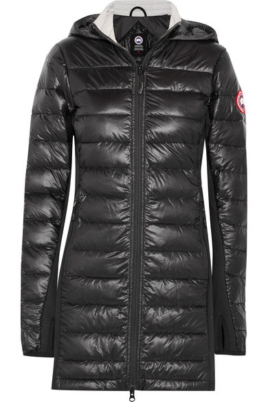 Canada Goose Hybridge Lite hooded quilted shell down coat – Women's – Black